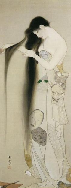 そごう美術館で「近代日本画にみる女性の美―鏑木清方と東西の美人画」展を観た(その2)! の画像|とんとん・にっき