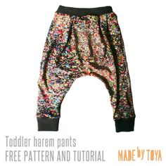 free toddler harem pants pattern