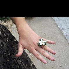 Anthony's corsage for Sarah!!