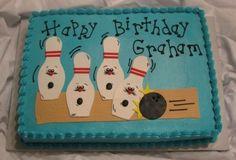 cute bowling cake