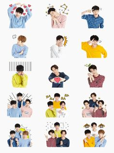 Exo Stickers, Tumblr Stickers, Printable Stickers, Cute Stickers, Tumblr Kpop, Exo Album, Chanyeol Baekhyun, Exo Lockscreen, Exo Korean