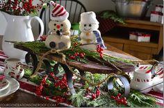 Kids christmas tablescape