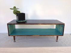 Handmade Mid Century TEAL and CHOCOLATE Brown by CharleneBrown, $260.00