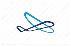 Logo for sale: Stylish Airplane Logo. unique airplane logo combination of calligraphy outline and modern geometric design. The symbol itself will looks nice as social media avatar and website or mobile icon. airoplane logo logos plane aeroplane air travel charter airline planes airport jet personal flight aero modern young fly flying school logo aviation product business brand design graphic unique recognized professional logo logos small island maintenance repair buy purchase mro