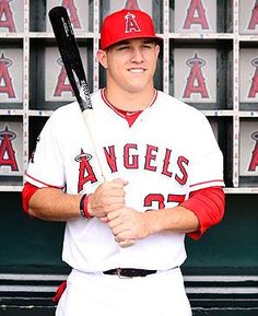 2012 Rookie of the Year, Mike Trout, Los Angeles Angels OF