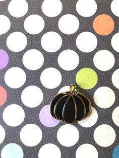 Black And Gold Pumpkin Enamel Pin by LanternPins on Etsy