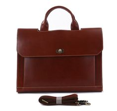 Superior Genuine Cow Leather Briefcase / Messenger / by Heavenbag