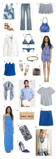 Elements of Style Blog | Fashion Friday: A Blue Spring | http://www.elementsofstyleblog.com