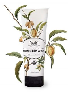 Almond Vanilla Body Lotion. Smooth on this soothing lotion made with organic aloe, rice protein, açai and essential oils, and Vitamin E.