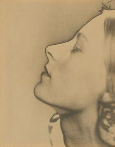 Man Ray / Untitled (solarised portrait, profile) / 1930
