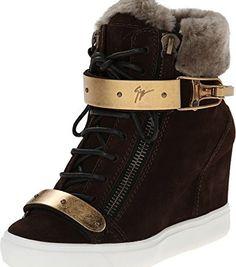 Giuseppe Zanotti Women's RW4076 Velour Moro Sneaker  #Fashion
