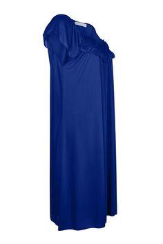 553aa73848 EZI Women s Satin Silk Ruffle Nightgown