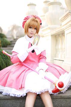 Sakura Kinomoto  From: CardCaptor Sakura/Cardcaptors Cosplayer: Kiyue (China) Photographer: unknown  Source: WorldCosplay.net