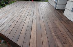 Back Deck Stain: Behr Premium Semi-Transparent Weatherproofing Wood Stain in Cordovan Brown Deck Stain Colors, Deck Colors, Exterior Wood Stain Colors, Exterior Paint, Deck Building Plans, Building A Pergola, Pergola Roof, Building Ideas, Behr