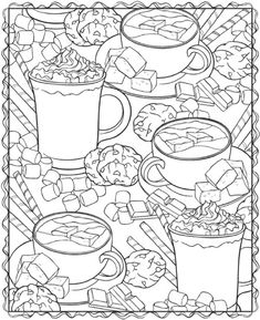 Adult Page Coloring Book Coffee on Girl Scout Swaps Clip Art