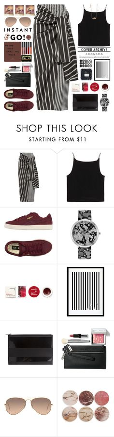 """Shades of You: Sunglass Hut Contest Entry"" by mockingjayafire ❤ liked on Polyvore featuring Joseph, T By Alexander Wang, Puma, Kenzo, Korres, Eleanor Stuart, Givenchy, Bobbi Brown Cosmetics, Ray-Ban and Polaroid"