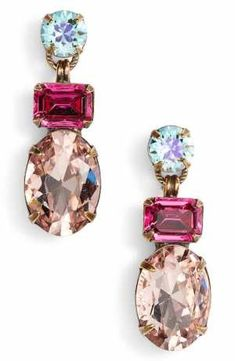 Women's Sorrelli Forget Me Not Crystal Drop Earrings High Jewelry, Crystal Jewelry, Jewelry Art, Gold Jewelry, Vintage Jewelry, Fashion Jewelry, Jewelry Design, Women Jewelry, Jewellery