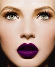 gorgeous makeup - purple lips