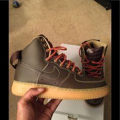 more photos dfc2a 1fac9 Nike Shoes   Nike Af1 High Gum Bottom Size 8 Vnds   Color  Brown Orange    Size  8