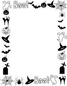 Doodle, use for art, comic books for Halloween season. You can buy best 25 Halloween activities here! Easy and quick paper activities Doodle Halloween, Halloween Borders, Halloween Flyer, Halloween Items, Halloween Crafts For Kids, Halloween Pictures, Halloween Coloring, Halloween Activities, Halloween Season