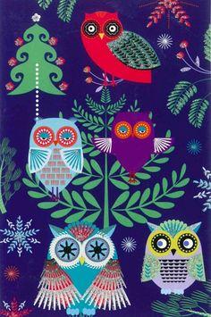 Xmas Wrapping Paper, Galaxy Phone Wallpaper, Owl Fabric, Christmas Owls, Wise Owl, Owl Print, Vintage Owl, Night Owl, Art For Art Sake