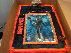 Iron Man Cake (first cake I made) progress, progress