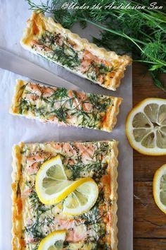 salmon x spinach x egg quiche
