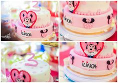 A Minnie birthday cake for a sweet girl.