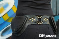 Leather Utility Hip Belt BaG   DOUBLE RING   BLACK // by offrandes, $120.00