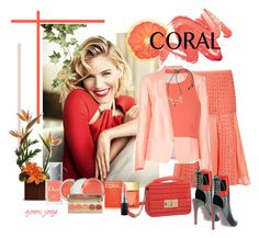 """""""Spring Beauty: Corals"""" by goreti ❤ liked on Polyvore featuring beauty, Giuliana Romanno, Alepel, Mauro Grifoni, Elizabeth and James, Christian Dior, Clinique, Michael Kors, MAC Cosmetics and Stila"""