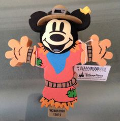 Disney Parks Mickey Mouse Scarecrow Antenna Topper