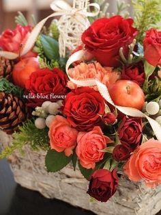 赤バラ・アッパークラス☆|静岡市フラワーアレンジメンント教室&ブーケサロン レラブルー rella-blue flower