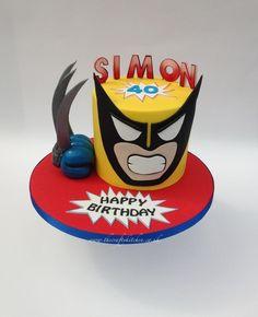 Wolverine Comic Book Cake
