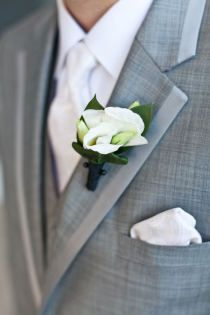 Style Me Pretty | Grey for the groomsmen