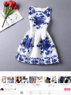 New Design Summer Womens TuTu Dress Vintage Digital Evening Party Print  Dresses b494b6eb6cb