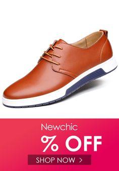 4b8f03750 Zapatos casuales estilo britático de cuero de color puro con cordones para  hombres