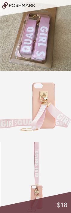 "Brand New!!!! iPhone 6&7 rose gold case Rose gold with two different length adjustments ""girl squad"" Accessories Phone Cases"