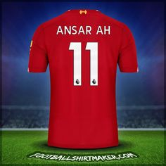 Make personalized Liverpool FC jersey. Customize jersey Liverpool FC with your name and number. Create jersey with the font Liverpool FC Liverpool Fc Shirt, Cristiano Ronaldo Goals, Nike Soccer, Under Armour, Number, Shirts, Dress Shirts, Shirt