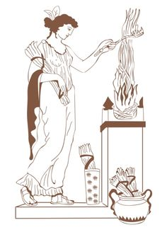 Hestia is the Greek goddess representing the hearth and home. It is derived by the ancient Greek word Ἑστία, which means hearth, or fireside. Goddess Art, Creation Myth, Ancient, Deities, Ancient Goddesses, Art, Mythology, Greek Myths, Myths