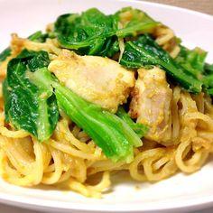 初めてレシピを書いてみました(^-^;) - 31件のもぐもぐ - 鶏肉のカレークリームパスタ by nakazawa817