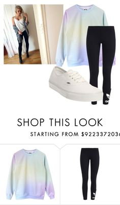 """""""Out with sky."""" by wweajfan4life ❤ liked on Polyvore featuring adidas Originals and Vans"""
