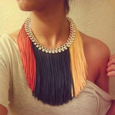 Fringe necklace -Autumn-