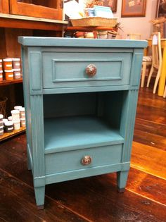 Custom paint finish in CeCe Caldwell's Paint.  Color Destin Gulf Green.  Bungalow 47.