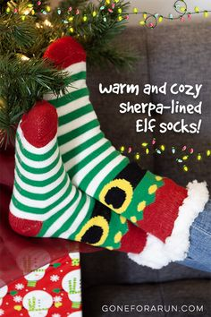 Après Run Elf Sherpa-lined slipper socks socks are the perfect gift for your running friends or anyone on your list this year! Running Friends, Running Gifts, Slipper Socks, Slippers, Christmas Themes, Christmas Holidays, Gifts For Runners, Sherpa Lined, Knitting Socks