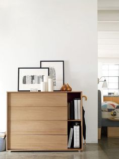 Dresser with side shelf... simple but brilliant.