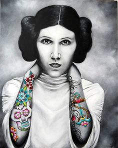 Art Collection by Nina Domaschko Carrie Fisher, Princess Leia, Daddy, Star Wars, Paintings, Film, Fictional Characters, Charcoal Sketch, Canvas