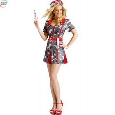 SMASH Sykepleier Kostyme Nurse Halloween Costume, Sexy Nurse Costume, Nurse Hat, Adult Costumes, Pleated Skirt, Cold Shoulder Dress, Army, Rompers, Summer Dresses