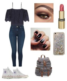 """""""for my bff"""" by rheana2005 on Polyvore featuring Ganni, J Brand, Converse, Dr.Hauschka, Anthropologie and Aéropostale"""
