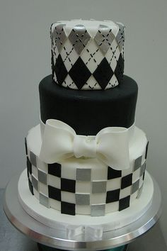 Checkers, argyle, AND black fondant- LOVE!!