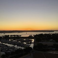 #Sunset over the San Diego Bay captured by Alison K. #marriottmarquissd #sandiego